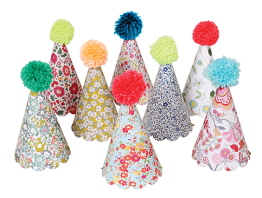 2. Meri Meri Liberty Print Pom Pom Party Hats (£11)