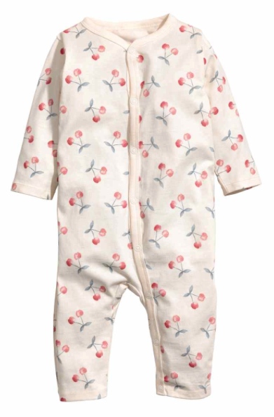 HM Cherry Print All in One Pyjamas