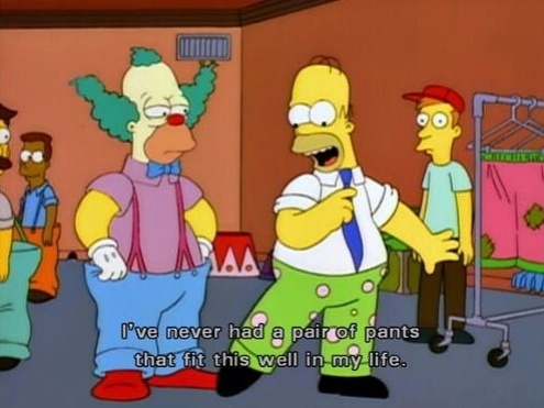 Homer Simpson Clown Pants