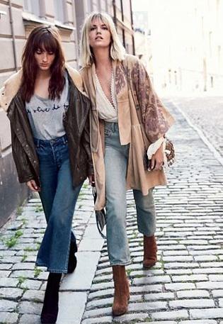 Street Style Wide Crop Jeans