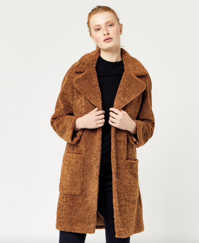 Teddy Faux Fur Coat Warehouse