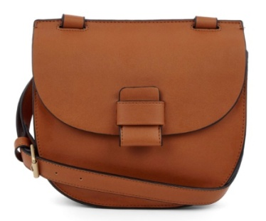 Stitch Tab Saddle Bag in tan (£18.20 in SALE)