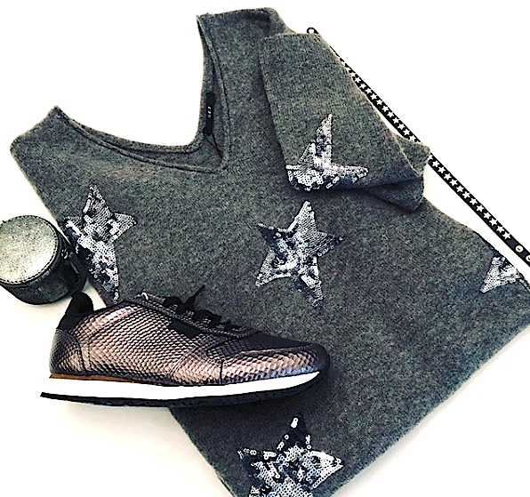 Woden trainers, Set Fashion knit & Markberg accessories