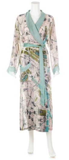 Map of Paris Handmade & Printed Robe (£65)