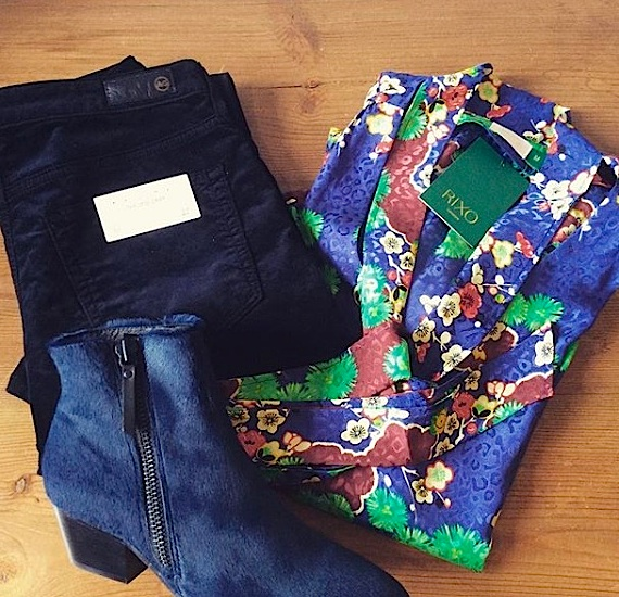 AG Jeans, Custommade Boots & RIXO blouse