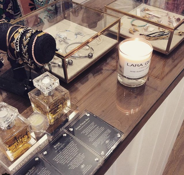 Alice in Perfume, Lara Quin candle & shiny things